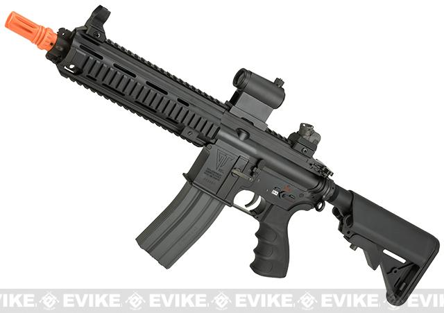 G&G Top Tech Full Metal Blowback TR4-18 SBR Airsoft AEG Rifle (Package: Black / Gun Only)