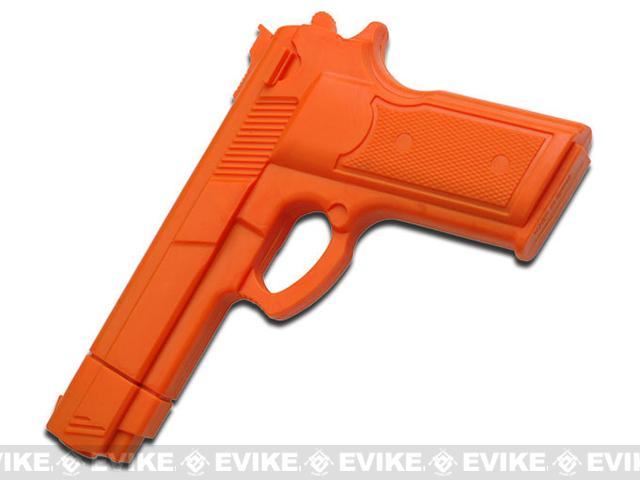 Master Cutlery Full Size Rubber Training Pistol - Orange