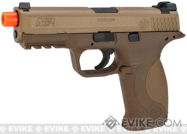 Smith & Wesson Licensed M&P 9 Full Size Airsoft GBB Pistol by VFC (Package: Tan / Gun)