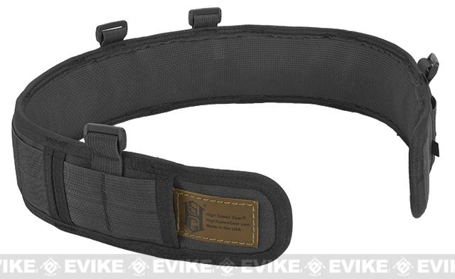 HSGI Slotted Slim-Grip Padded Duty Belt (Color: Black / Small)