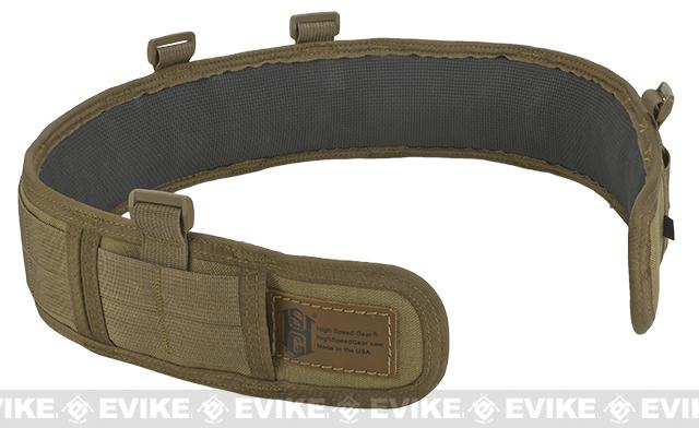 HSGI Slotted Slim-Grip Padded Duty Belt (Color: Coyote Brown / Medium)