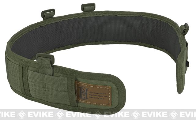 HSGI Slotted Slim-Grip Padded Duty Belt - OD Green (Size: Small)