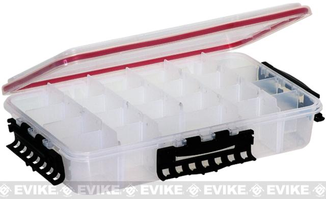 Plano Waterproof Stowaway® Clear Storage Utility 3700 Size Divided Box - 4 to 15 Compartment