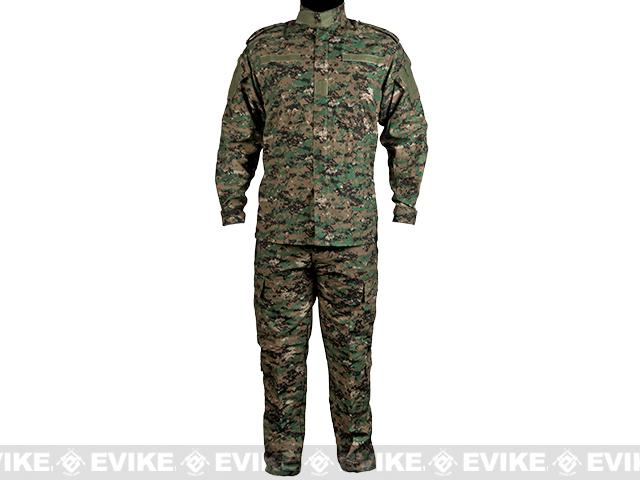 Matrix USMC Style Digital Woodland Battle Uniform Set (Size: Large)