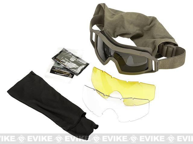 Revision Wolfspider Deluxe Goggles with 2 Spare Lenses - Tan