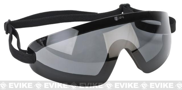 z Revision Exoshield Extreme Low-Profile Goggles - Black w/ Smoke Lens