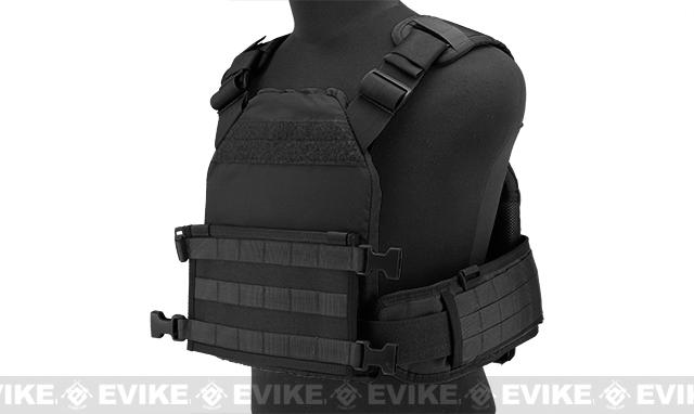 z HSGI MPC Modular Plate Carrier- Black (Medium Carrier / Medium Sure Grip)