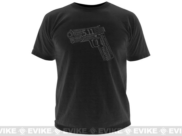 z 5.11 Tactical 45 Words or Less T-shirt - Black / Large