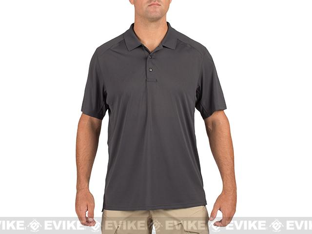 z 5.11 Tactical Helios Short Sleeve Polo - Charcoal (Size: X-Large)