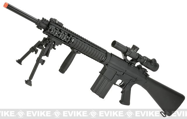 Pre-Order ETA June 2018 A&K Full Metal Fixed Stock SR-25 Airsoft AEG Rifle