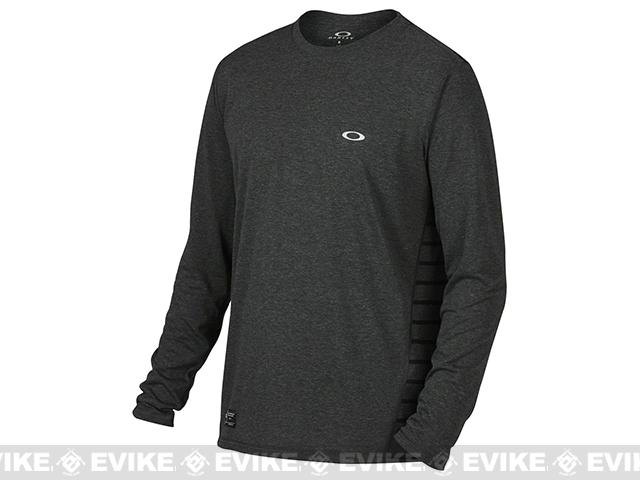 Oakley Exposure LS T-Shirt - Jet Black Heather (Size: Large)