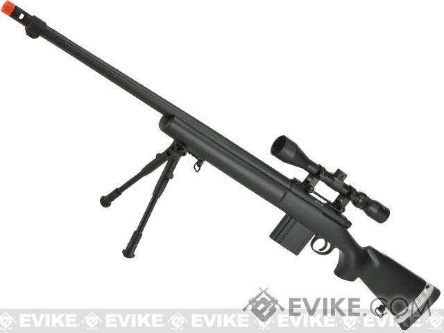 WELL MB4405D Bolt Action Airsoft Sniper Rifle - Black