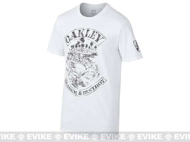 Oakley SI  Search and Destroy T-Shirt - White (Size: Medium)