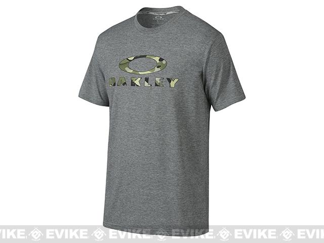 Oakley Stealth O T-Shirt - Heather Grey (Size: Large)