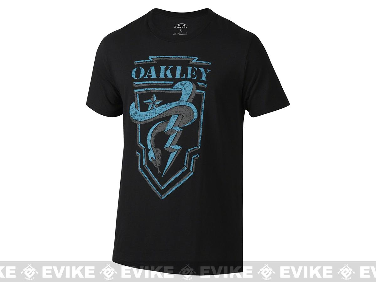 Oakley  Snake Shield  T-Shirt - Black (Size: Medium)