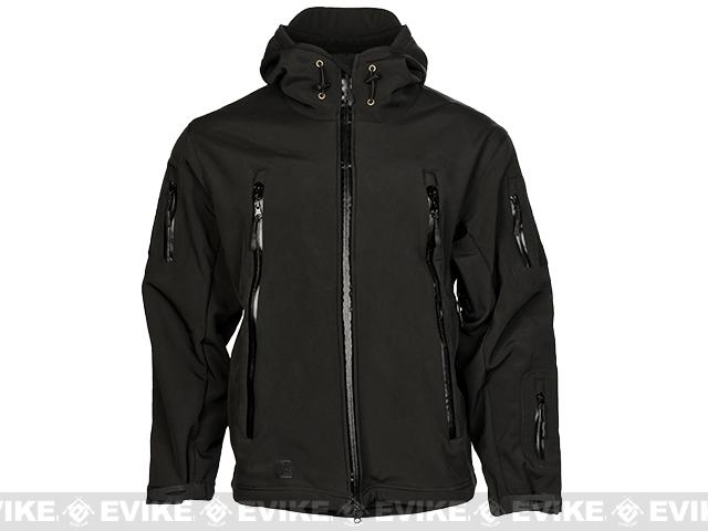 z Laylax Ghost Gear Tactical Water-Repellent Jacket - Black (Size: Large)