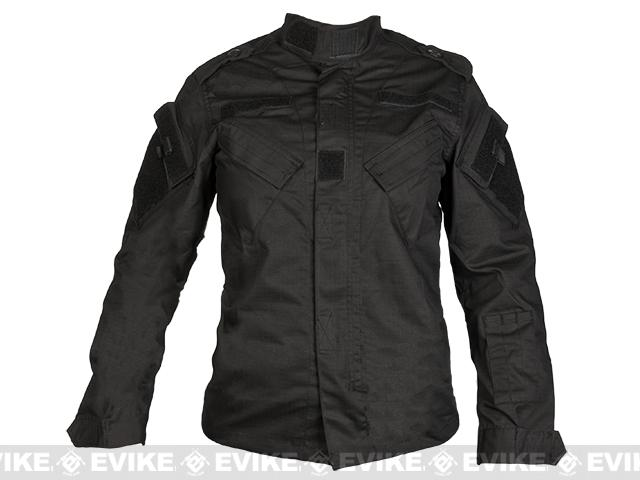 Laylax Ghost Gear Ladies Tactical BDU Jacket - Black (Size: Large)
