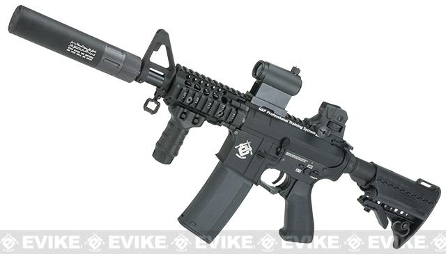 Evike.com G&P Rapid Fire II Airsoft AEG Rifle w/ QD Barrel Extension  (Package: Black / Evike.com Receiver /  Battery + Charger)