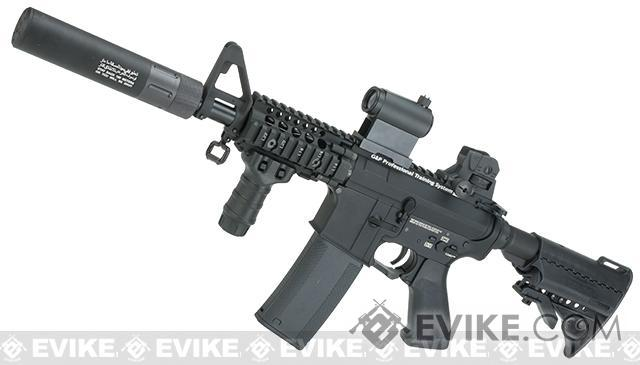 Evike.com G&P Rapid Fire II Airsoft AEG Rifle w/ QD Barrel Extension  (Package: Black / Blank Receiver /  Gun Only)