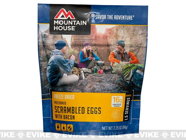 Mountain House Freeze Dried Camping Food (Menu: Scrambled Eggs and Bacon)