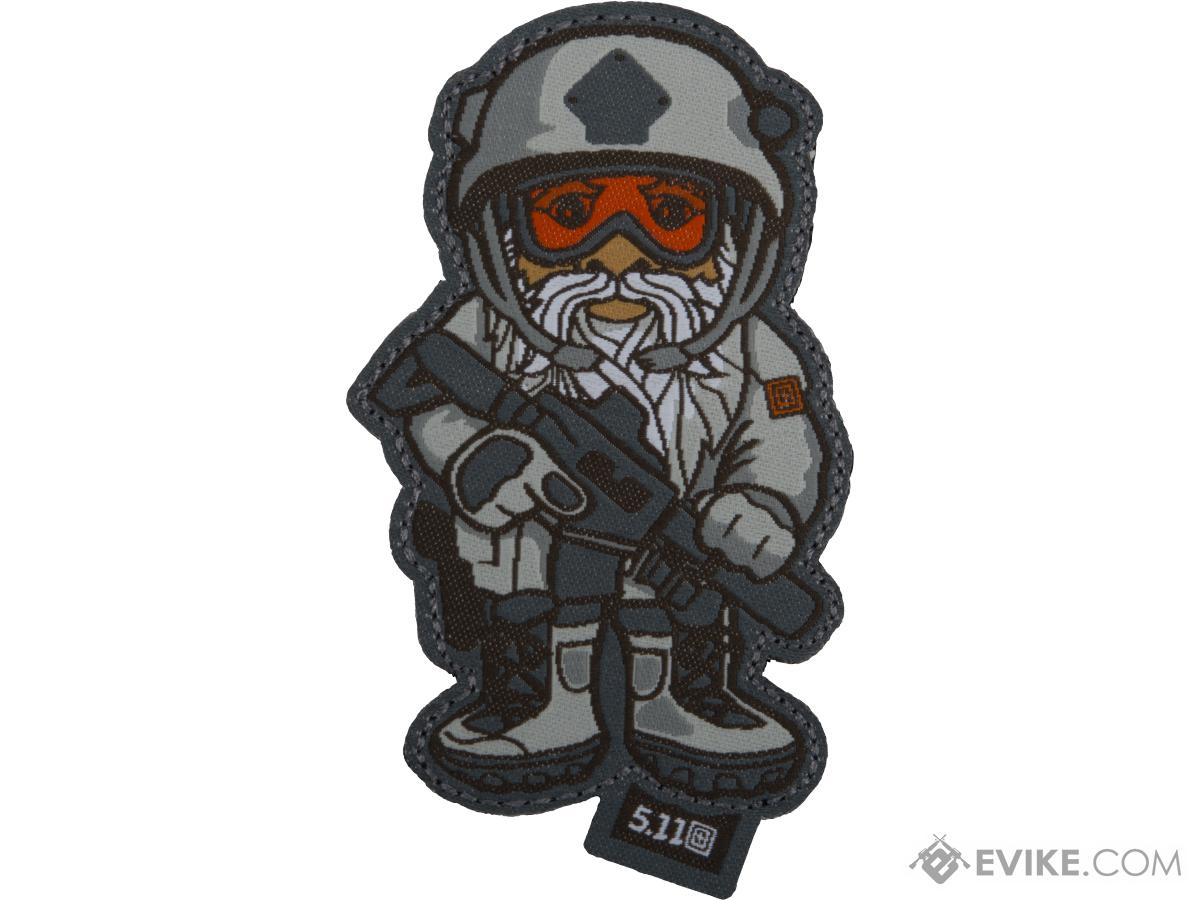 5.11 Tactical SWAT Gnome Embroidered Hook and Loop Morale Patch (Color: Storm)