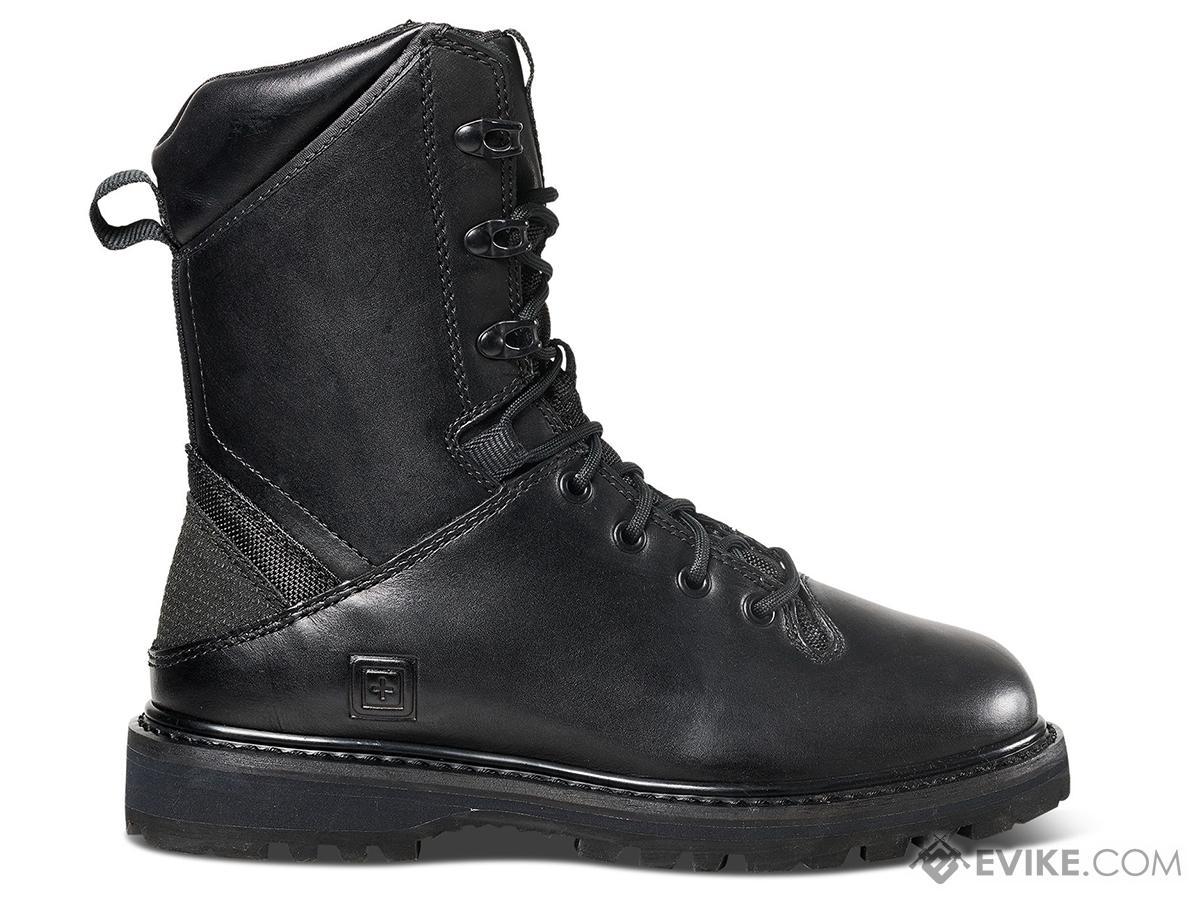 5.11 Tactical Apex 8 Leather Boot (Color: Black / Size 12 Regular)
