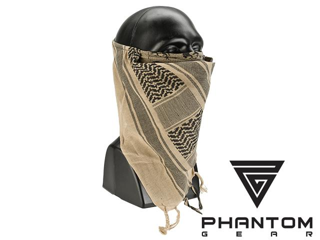 Black Owl Gear / Phantom Tactical High Speed Operator Mask - Desert Tan Shemagh