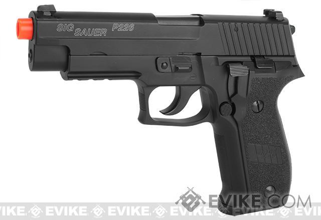 Pre-Order ETA April 2018 SIG Sauer Full Metal P226 Airsoft Gas Blowback Pistol by KJW