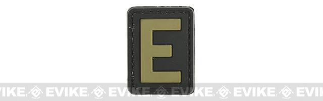 Evike.com PVC Hook and Loop Letters & Numbers Patch Black/Tan (Letter: E)
