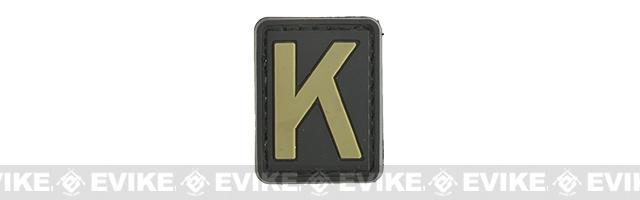 Evike.com PVC Hook and Loop Letters & Numbers Patch Black/Tan (Letter: K)