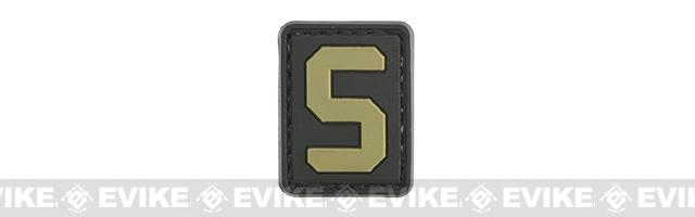 Evike.com PVC Hook and Loop Letter Patch - S (Black / Tan)