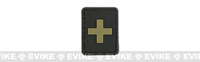 Evike.com PVC Hook and Loop Patch - + (Black / Tan)