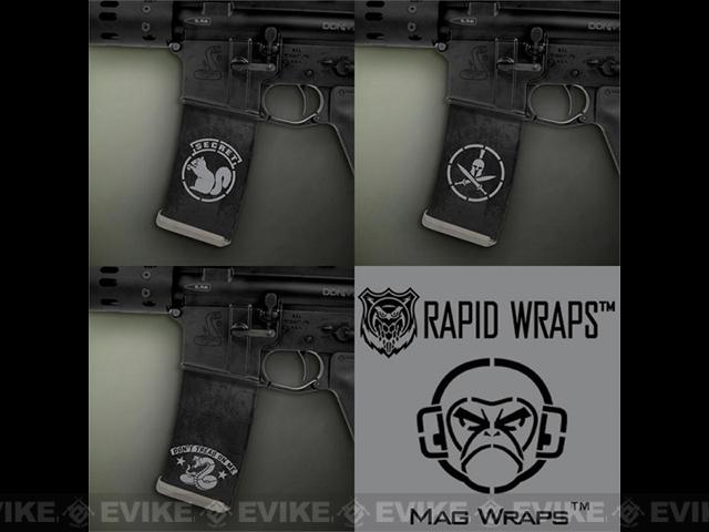 US NightVision Mag Wraps™ Rapid Wraps - Mil Spec Monkey: Black / Grey
