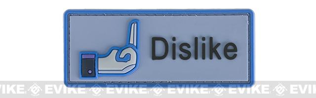 Dislike IFF PVC Hook & Loop Morale Patch - Blue