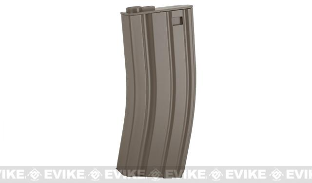 E&C 160rd Metal Mid-Cap Magazine for M4 M16 Series Airsoft AEG Rifles (Color: Dark Earth)