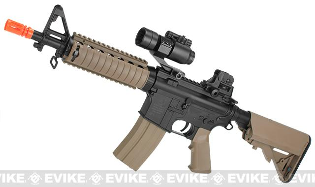 Colt Licensed M4 CQB-R SOPMOD LiPo Ready Airsoft AEG w/ Metal Gearbox (Package: Tan / Add Battery + Charger)