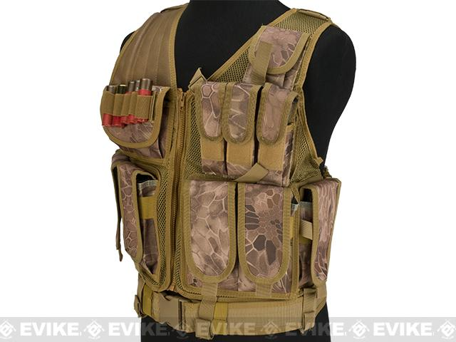Matrix Special Force Cross Draw Tactical Vest w/ Built In Holster & Mag Pouches - Desert Serpent