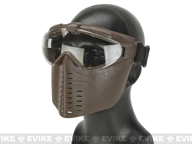 z Pro-Goggle Airsoft Full Face Mask w/ Integrated Fan  - Dark Earth