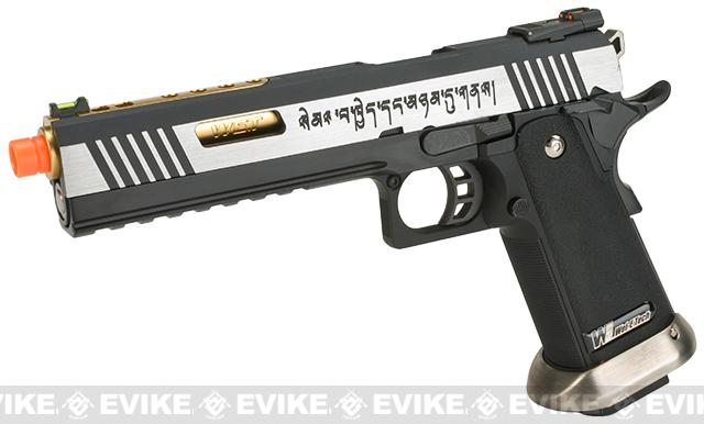 WE-Tech Hi-Capa 6 IREX Competition Pistol (Color: Two-Tone / Gold Barrel / with Markings)