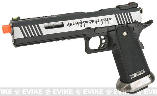 WE-Tech Hi-Capa 6 IREX Competition Pistol (Color: Two Tone / Silver Barrel / with Markings)
