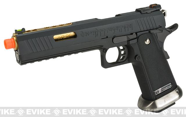 WE-Tech Hi-Capa 6 IREX Competition Pistol (Color: Black / Gold Barrel / with Markings)
