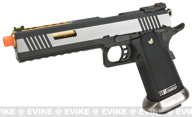 WE-Tech Hi-Capa 6 IREX Competition Pistol (Color: Silver / Gold Barrel / Sterile)