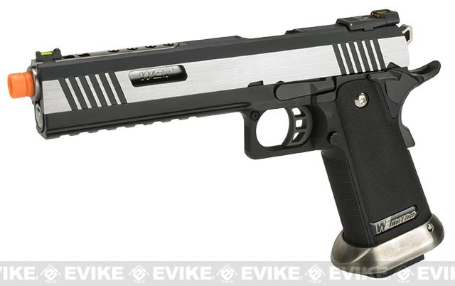 WE-Tech Hi-Capa 6 IREX Competition Pistol (Color: Silver / Silver Barrel / Sterile)