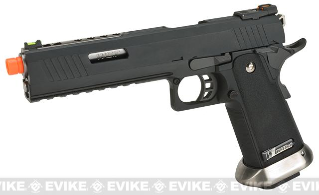 WE-Tech Hi-Capa 6 IREX Competition Pistol (Color: Black / Silver Barrel / Sterile)