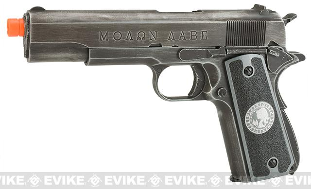 Evike.com Nostradamus Custom Armorer Works Molon Labe Gas Blowback Airsoft Pistol with Angel Custom Tac-Glove Grips (Sign: Virgo)