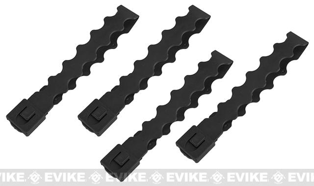 Tactical Tailor Fight Light MALICE Modular Webbing Clips (Long) - Black/ Set of 4