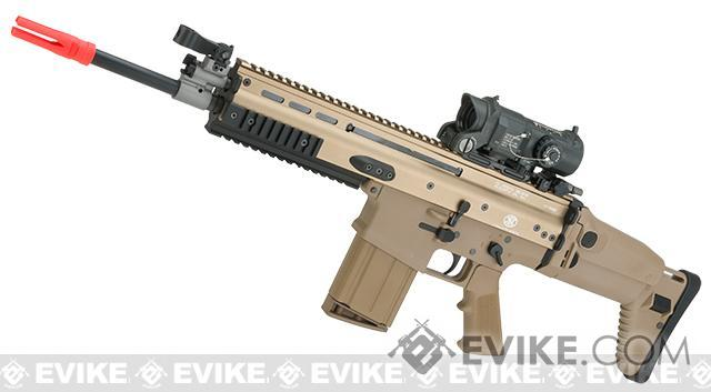 FN Herstal SCAR-H STD Licensed MK17 Gas Blowback Airsoft Rifle by WE-Tech (Color: Tan)