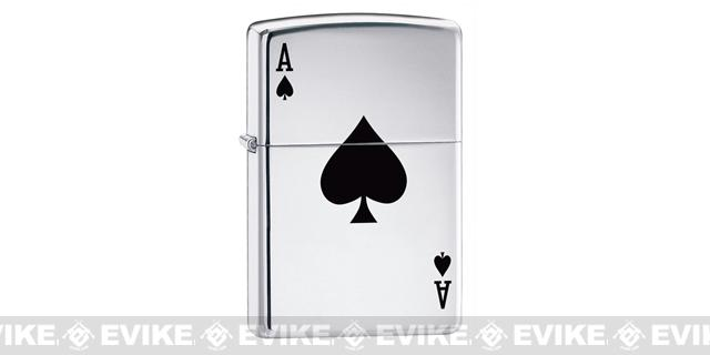 Zippo Classic Lighter - Lucky Ace (High Polish Chrome)