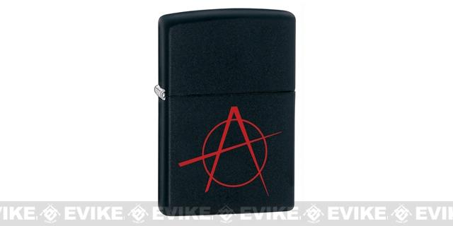 Zippo Classic Lighter Graphics Series (Model: Anarchy / Matte Black)