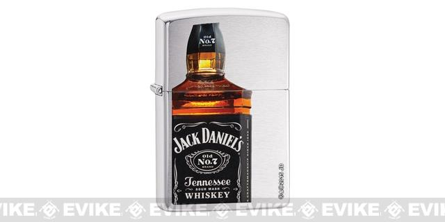 Zippo Classic Lighter Branded Series (Model: Jack Daniels / Brushed Chrome)